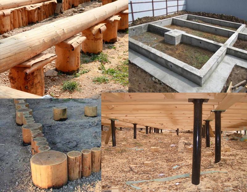 Типы фундаментов под дом
