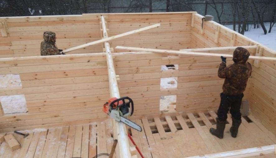 повторное строительство сруба