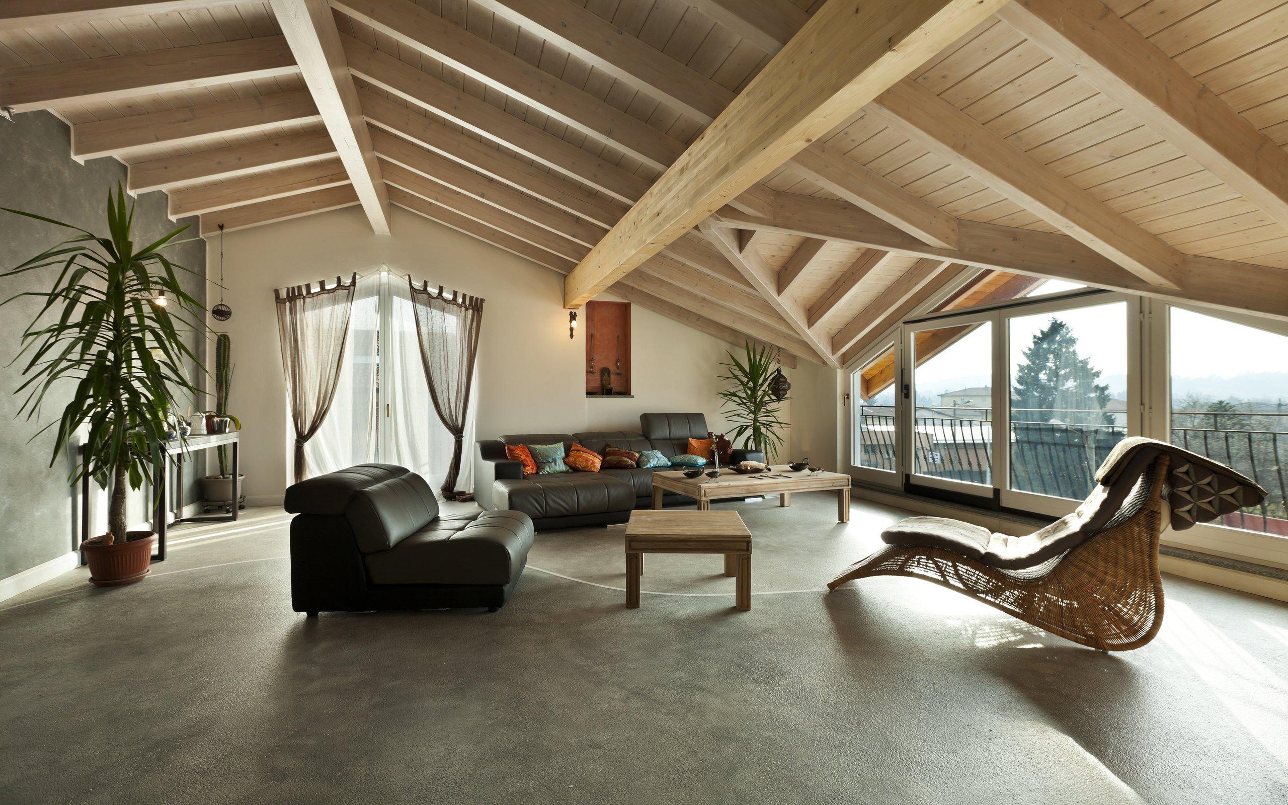 стиль комнаты для мансардного этажа