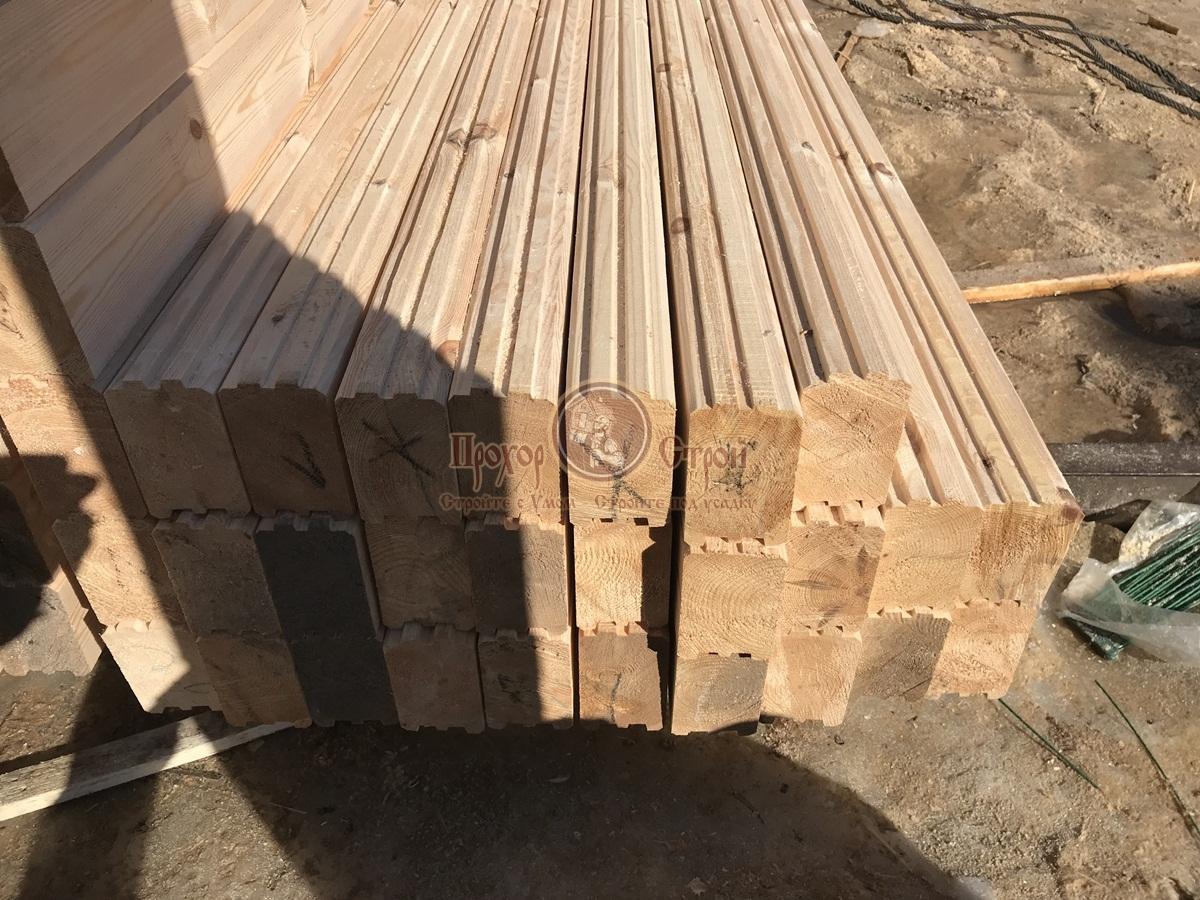 Профилированный брус на складе